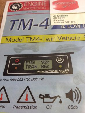 TM-4 Twin Sensor Temperature/Gauge Alarm